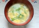 水菜とかき玉のお味噌汁