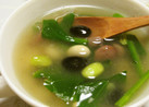 簡単❀ホウレン草とビーンズの健康スープ