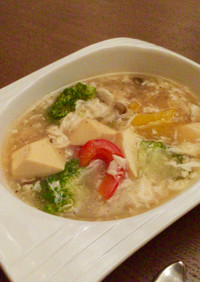とろ〜り❤︎サンラータン風スープ