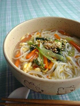 野菜がたっぷり食べられる✿中華にゅうめん