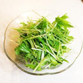 やみつき!簡単!シンプルな水菜サラダ
