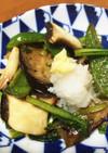 餃子のタレでなすの野菜炒め、びっくり!