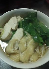 白石温麺☆鳥と小松菜と油揚げで!素麺でも