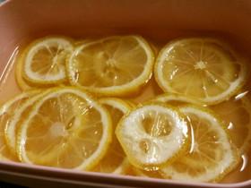 レモンの砂糖蜂蜜漬け+レモンジュース