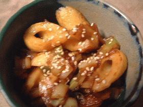 竹輪と葱の甘辛煮