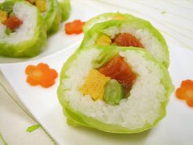 春キャベツの春巻き寿司