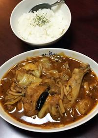 簡単♡鶏レッグとキャベツのスープカレー♪