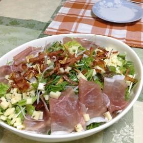☆生ハムとレタスのごちそうサラダ