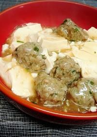 肉団子と豆腐の*旨煮
