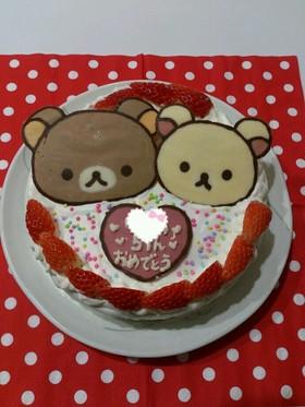 リラックマチョコでバースデーケーキ By Aydママ クックパッド