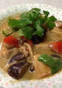 時短簡単タイ料理のチキンのグリーンカレー