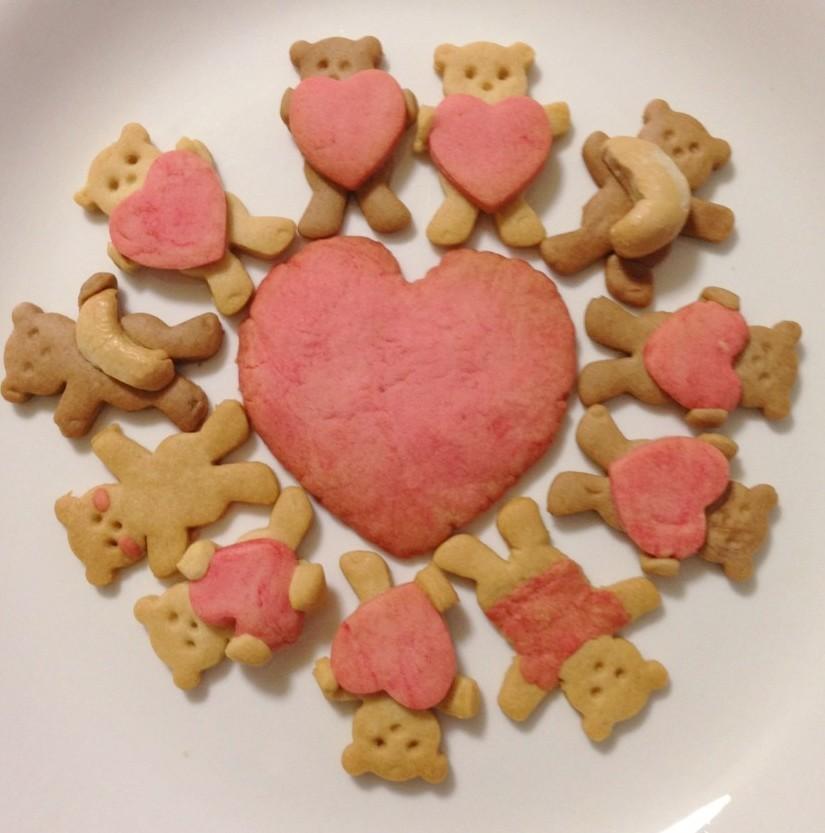 くまクッキー(バレンタインVer)