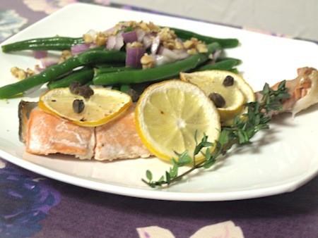鮭のレモンとタイム焼き〜パレオダイエット