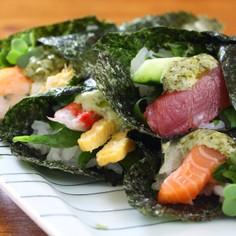 子供が喜ぶマヨバジル手巻き寿司