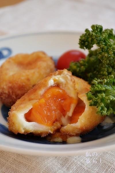 冷凍卵のフライ