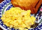 白菜と粉チーズのスクランブルエッグ