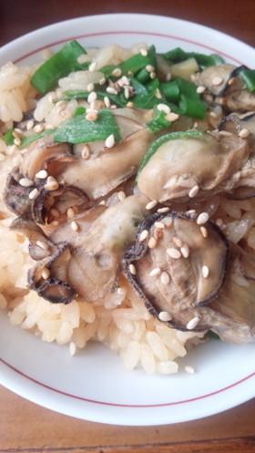 炊飯器de♡牡蠣と生姜の炊き込みご飯