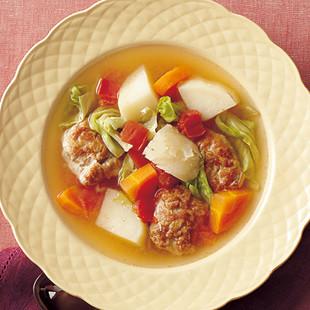 ごろごろ野菜のコンソメスープ