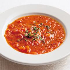 トマトとパプリカの真っ赤なポタージュ