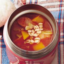 押し麦のトマトスープ