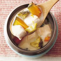 ささ身の豆乳スープ