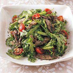 牛肉と春菊のおかずサラダ