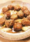 肉団子の甘辛煮。