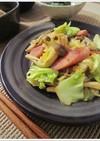 キノコ野菜とウィンナー甘酢ケチャップ炒め
