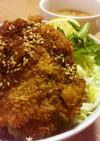 生姜焼き用の豚肉で♥BIGなわらじカツ丼