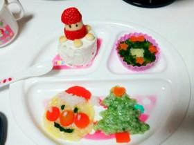 離乳食中期 クリスマスプレート
