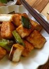 こってり*ご飯に合う!豆腐とネギの焼鳥風