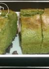 HMで簡単おやつ★抹茶小豆パウンドケーキ