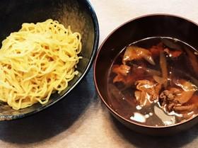 幸楽苑風酸っぱ辛いつけ麺スープ。素麺も♪