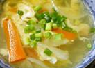 鳥皮でナンプラースープ