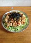 居酒屋風、豆腐とアボカドのサラダ