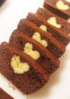 バレンタインに♡ハートのパウンドケーキ