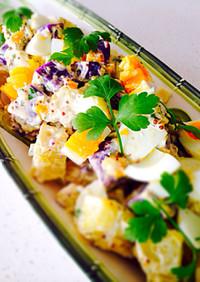 蒸して鮮やか・彩りポテトサラダ