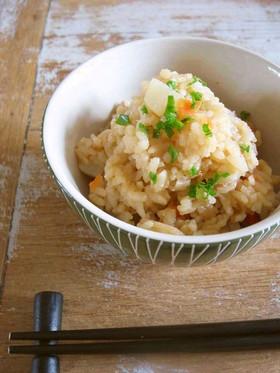 菊芋と人参とレンコンの炊き込みごはん