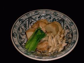 オイスターソースで...鶏と里芋の煮物