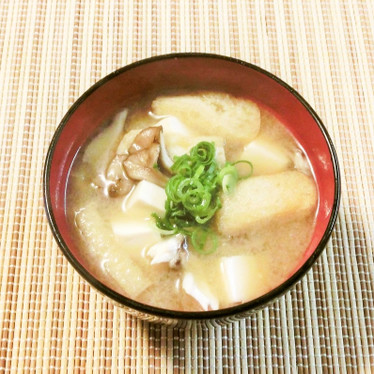 舞茸・豆腐・油揚げの味噌汁~♪
