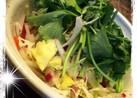 冬野菜の自家製塩レモンで中華ダレサラダ