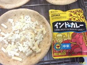 冷凍ピザ生地にトッピング3種類