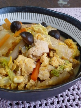 ❤お豆腐入り白菜の煮物(卵とじ❤祖母の味