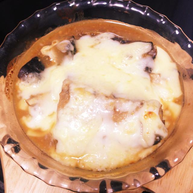 鯖の味噌煮チーズ焼き