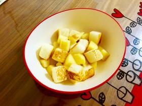 1歳の朝ごはん。超簡単、りんごトースト。