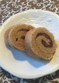 糖質制限 ふすまあずきロールケーキ♡