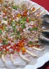 真鯛のカルパッチョ・粒マスタードソース