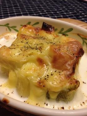 長ねぎとチーズの簡単おつまみ♪