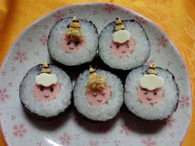 節分鬼かわいい巻き寿司キャラ弁にも