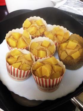 ★小麦・乳・卵不使用★米粉の黒糖蒸しパン